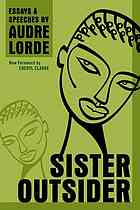 cover, Audre Lorde, Sister Outsider